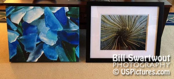Abstract submissions strecthed canvas and matted-framed