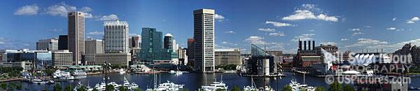 Baltimore Inner Harbor Panorama Picture