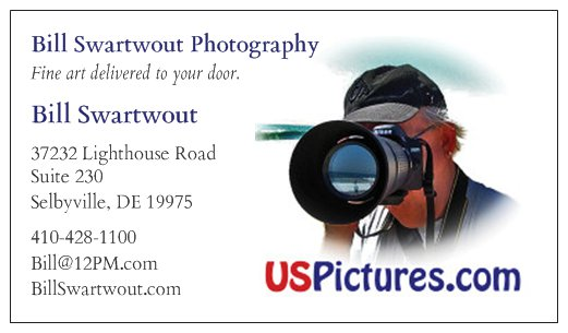 Bill Swartwout Photography Business Card Preview