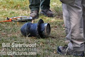 Exploded canon breech at Fort McHenry