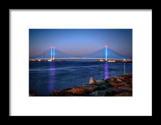 Framed Sample of the Indian River Bridge at Twilight