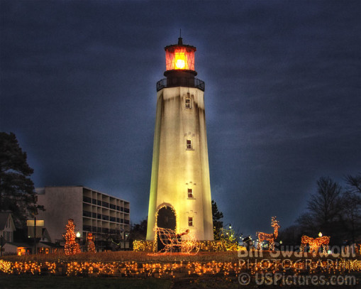 merry christmas and happy new year rehoboth beach lighthouse holiday decorations - Christmas Lighthouse Decorations
