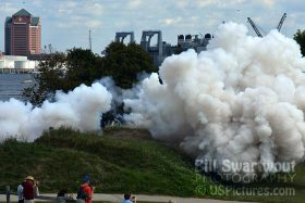 Canon salvo smoke at Fort McHenry