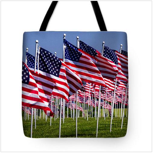 Flags for Heroes Tote Bag