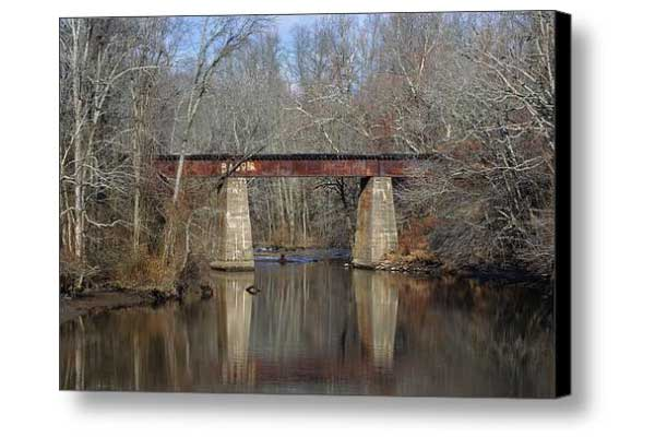 Tuckahoe River Railroad Bridge in Fall