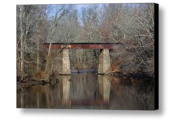 Tuckahoe River Railroad Bridge in Fall